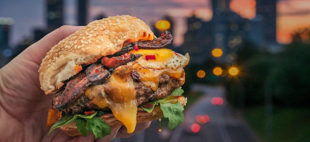 Chili Maple Brunch Burger