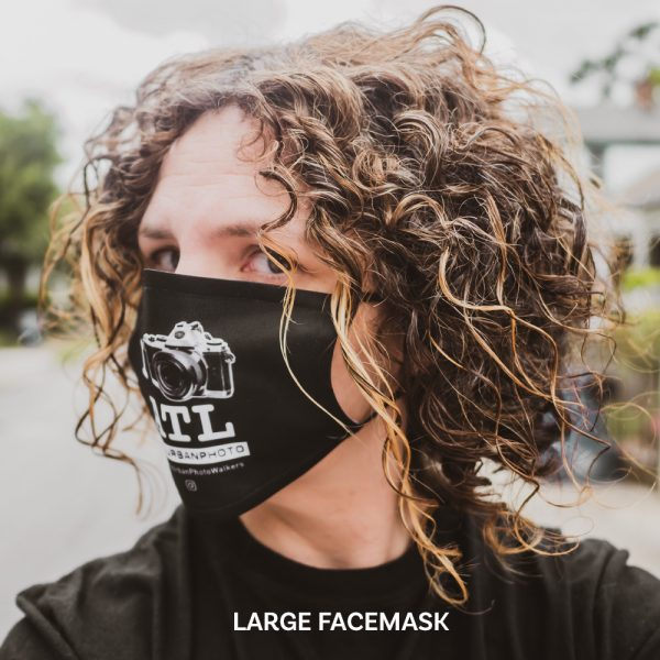 I Shoot ATL Face Mask Large - Side View