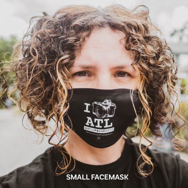 I Shoot ATL Face Mask Small - Front View