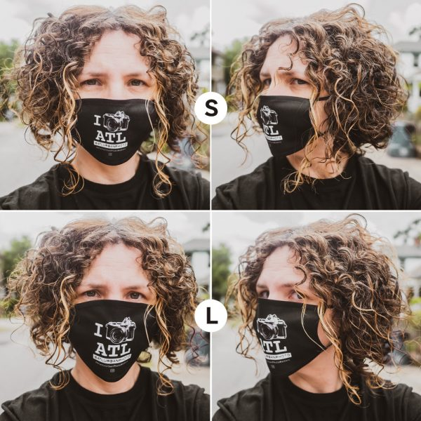 I Shoot ATL Face Masks Large vs. Small