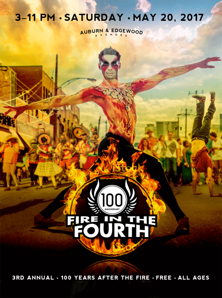 Fire in the Fourth Event Poster Design
